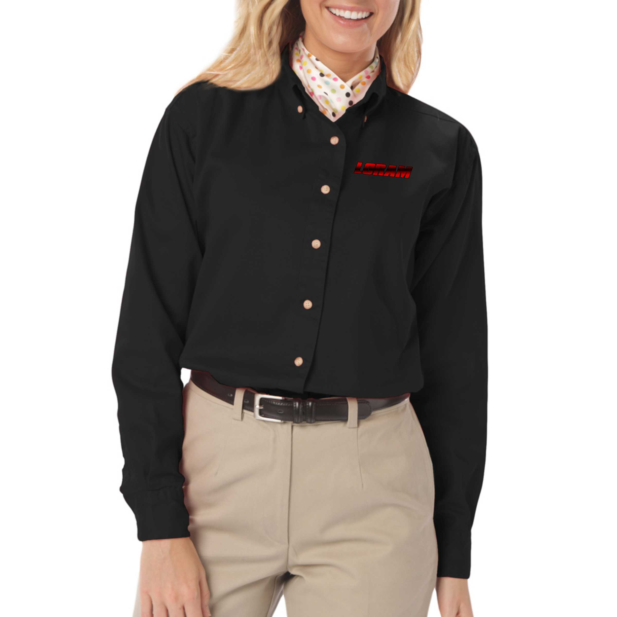 Ladies 39 100 cotton long sleeve work shirt for 100 cotton work shirts