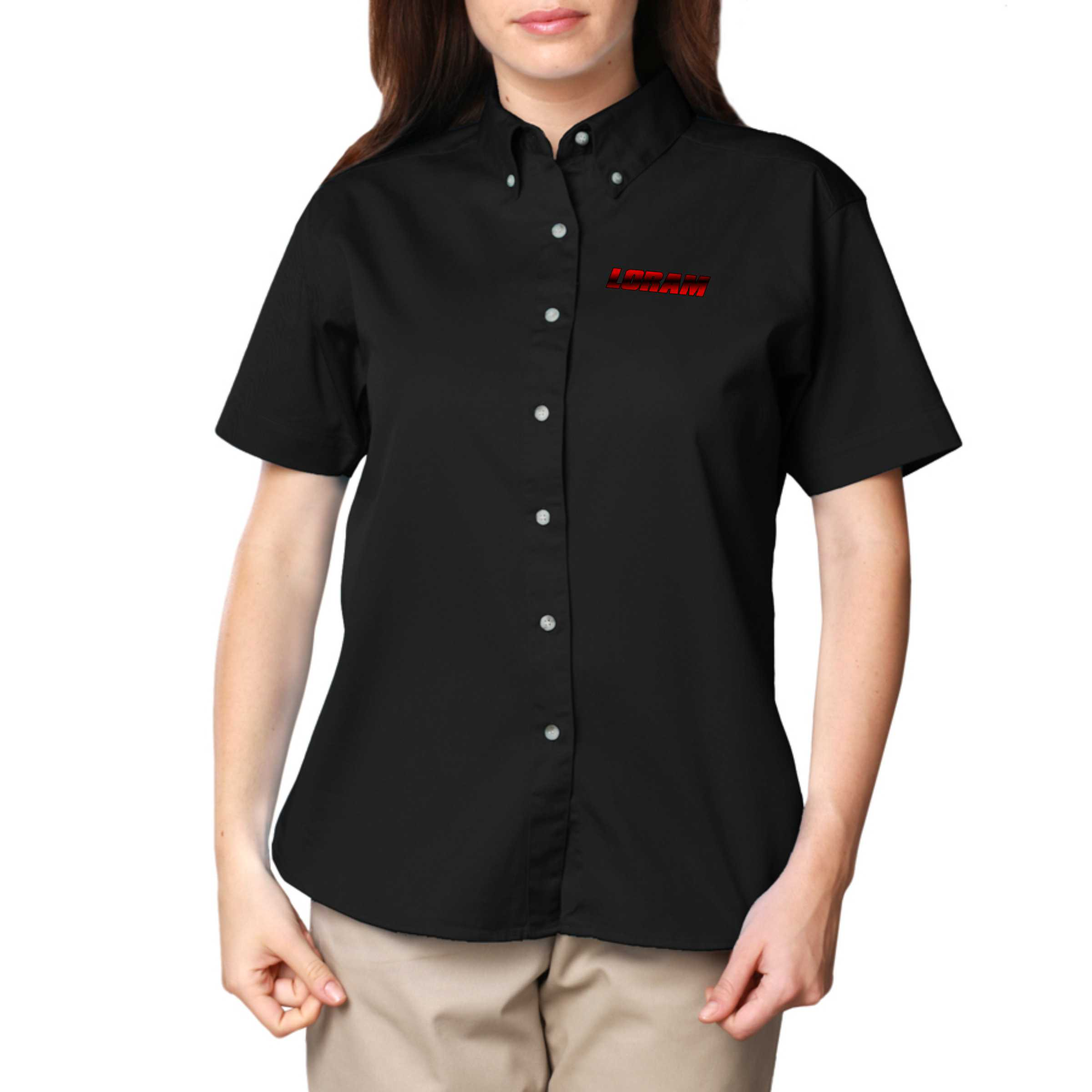 Design custom work shirts from top brands like Dickies and Red Kap that can stand up to the toughest jobs. Add your logo or use free design templates to create custom embroidered mechanic shirts, long sleeve flannel shirts, durable denim shirts, button-up shop shirts, stain resistant restaurant uniform shirts, safety shirts, and so much more.